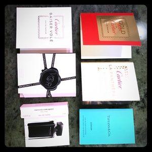6 Fine Fragrance Sample Set Kit Cartier & Tiffany